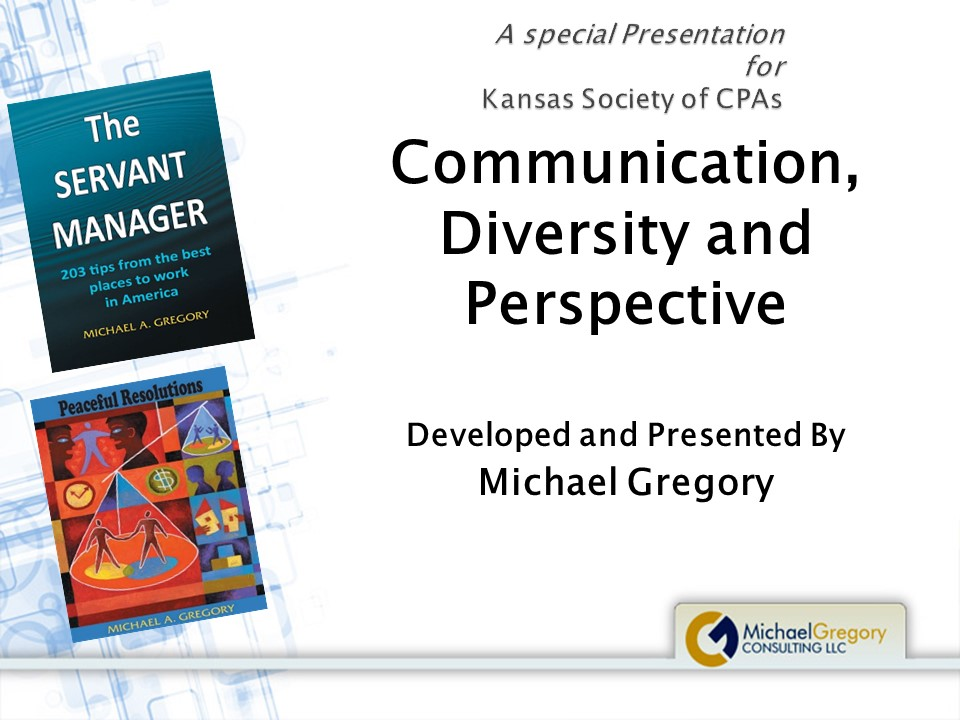 Communication, Diversity and Perspective a Recorded Live Session