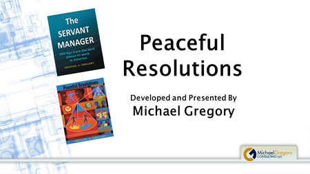 Training: Peaceful Resolutions