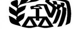 Symbol for the IRS with the letters IRS underneath