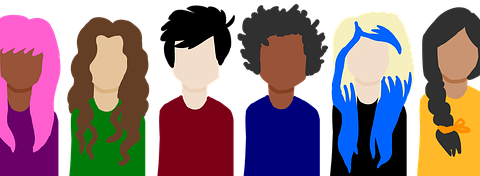 7 avatars of employees with diverse backgrounds