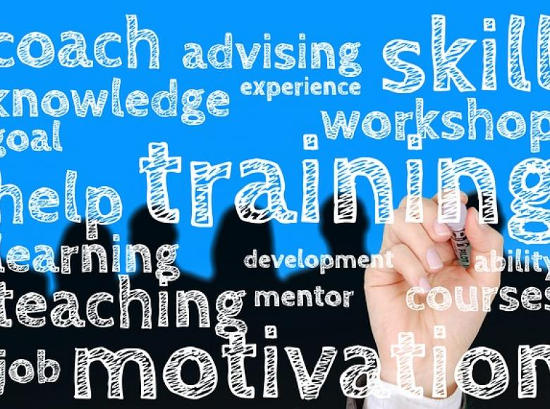 key words associated with coach, advising, motivation, teaching etc.