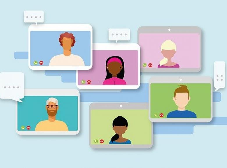 Six parties on different screens to interact on a mediation
